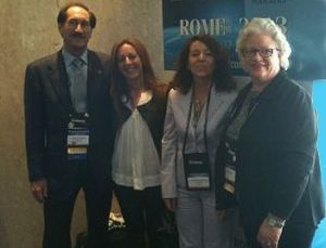 De izquierda a derecha:Robert Chelin,   Ana Esther Levy, Rosa Moreno y Kathleen Stone,