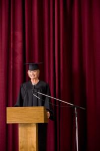 Fear of public speaking female graduate