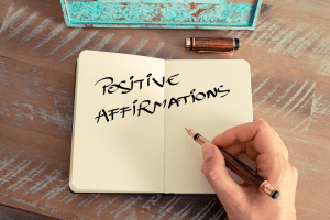 Writing positive affirmations
