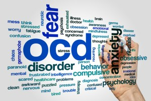 word cloud OCD treatment Cardiff