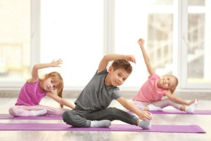 Children exercise to relieve stress