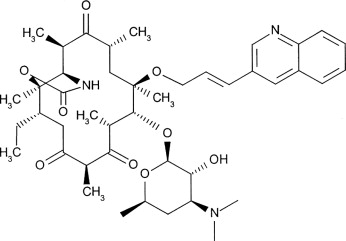 Ketolides—telithromycin, an example of a new class of