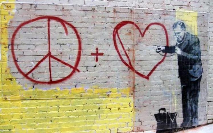 Tratamiento hipocondría en adolescencia (Graffiti de Bansky en San Francisco, USA).