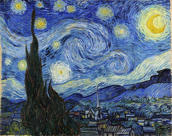 Combatir el insomnio ('Noche estrellada' de Vincent van Gogh).