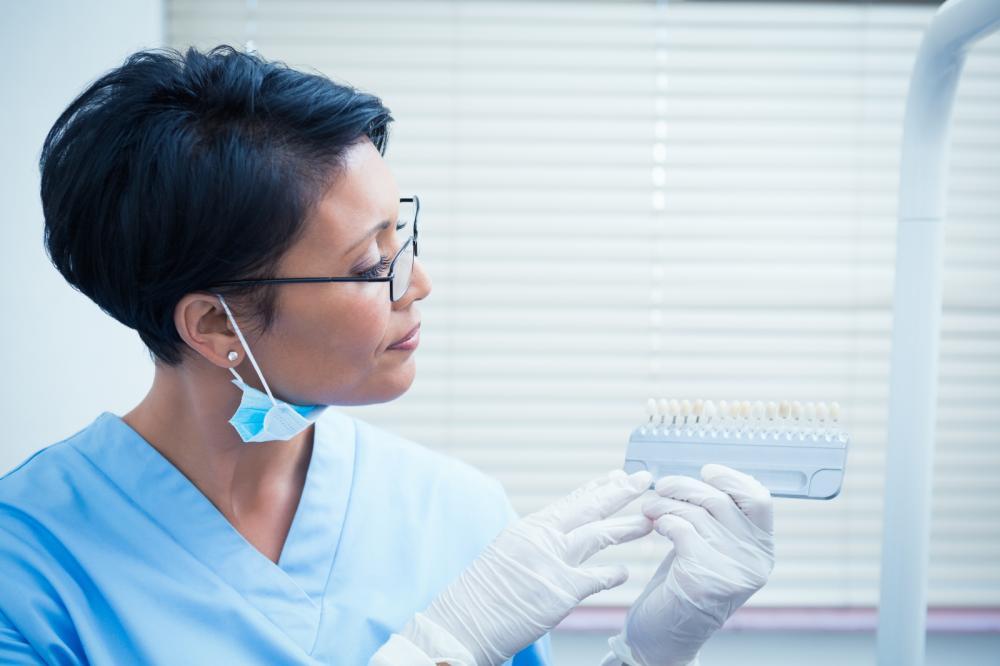 Escala de cor clareamento dental