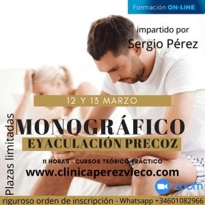 formacion online sexologiacurso monográfico EYACULACIÓN PRECOZ clinica perez vieco sergio perez serer