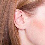 Picture of woman's ear close up