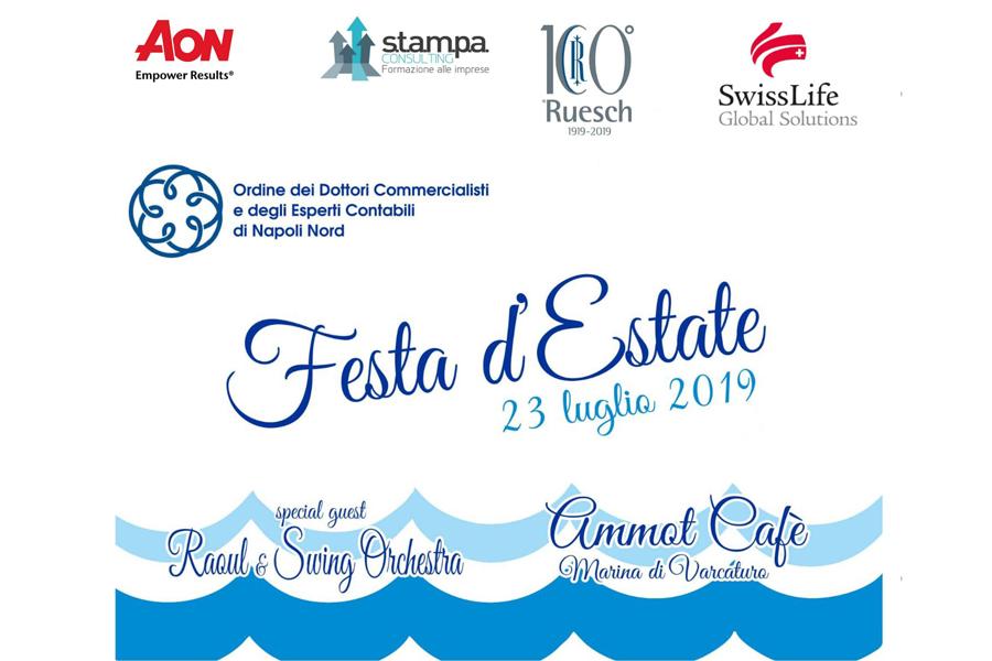 Ruesch è Sponsor della Festa d'Estate 2019 di Odcec Napoli Nord
