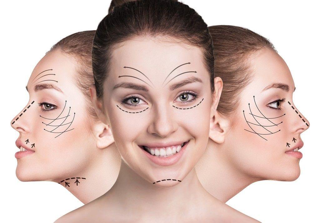 perfiloplastia de nariz, pomulos, menton y mandibula