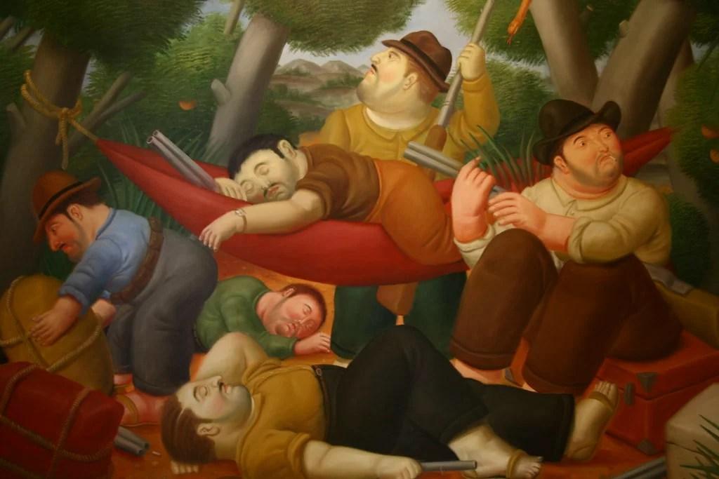 Guerrilla de eliseo Velázquez, de Botero (1988)