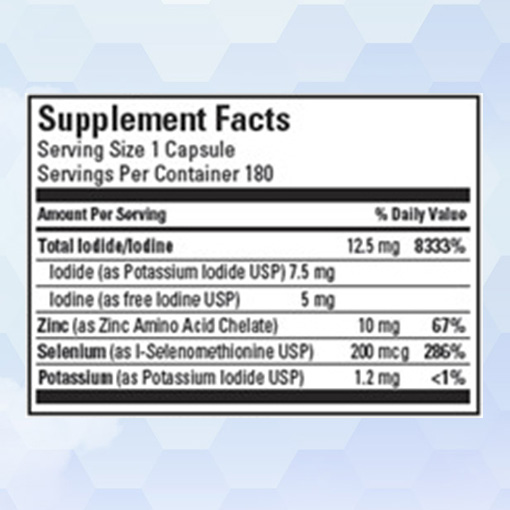 Shop Iodine PLUS Supplement Facts - Clinique Dallas Plastic Surgery & Wellness Center