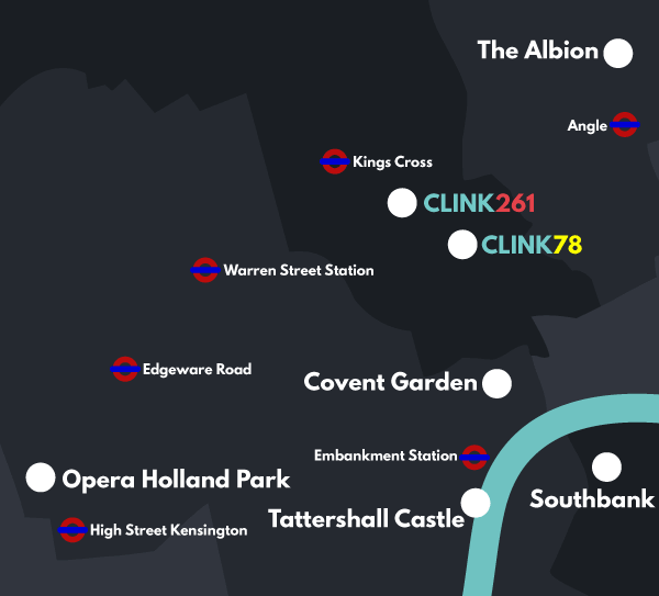 Central London attractions map