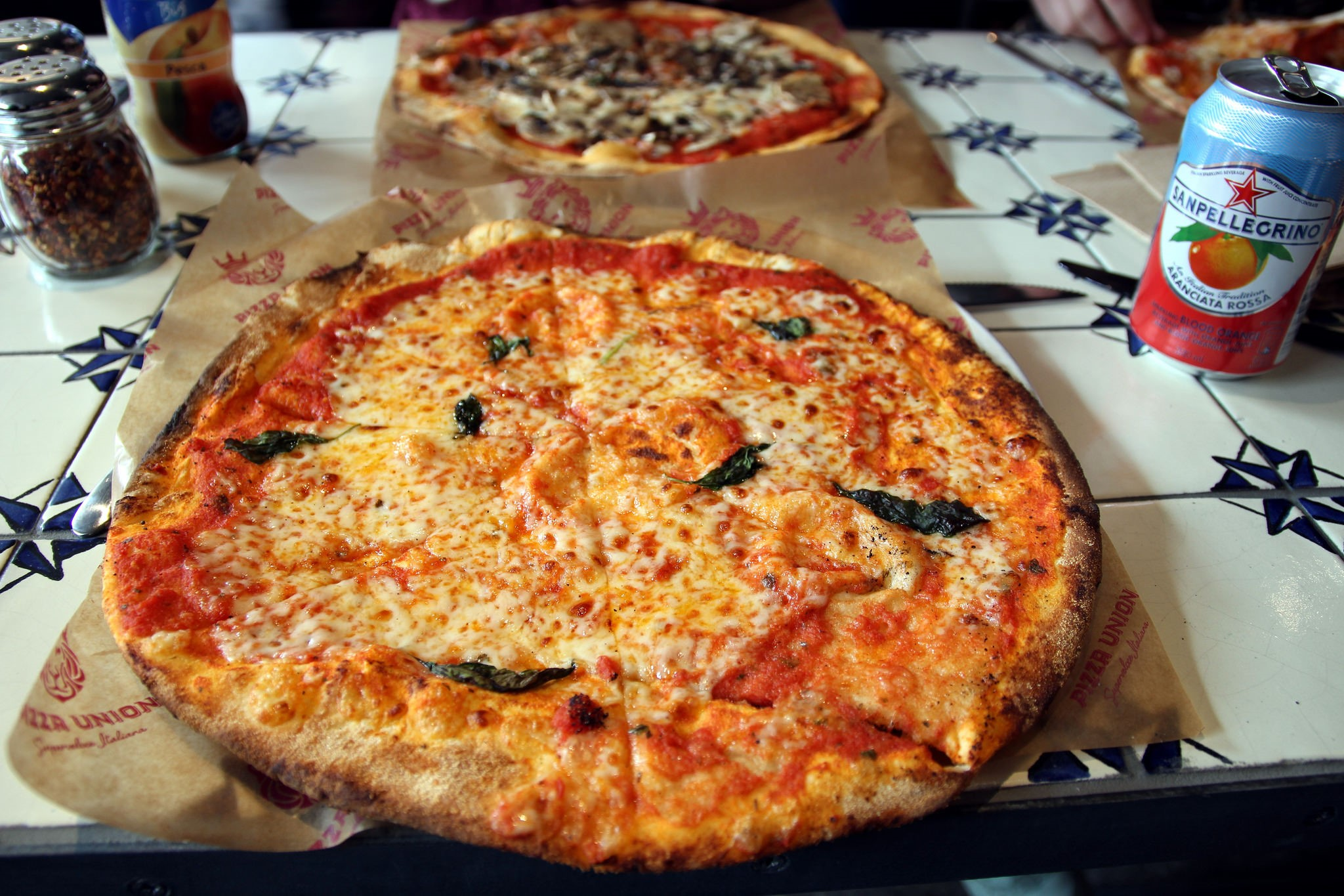 Pizza at Pizza Union, King's Cross London