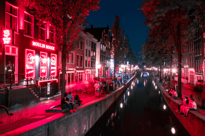 Red Light District Moulin Rouge Amsterdam