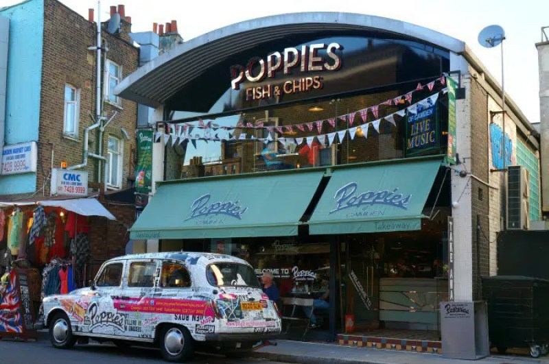 Poppies Fish and Chip Shop | What to Eat in Camden | Clink Hostels