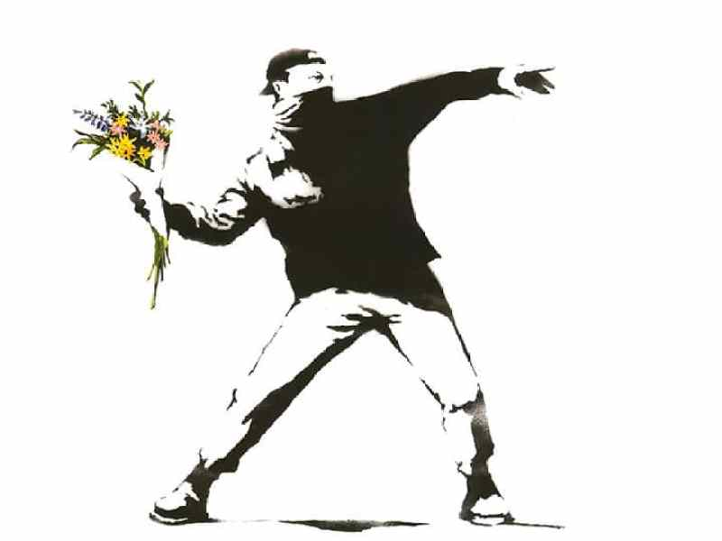 "Banksy ""Laugh Now"" at Moco Museum Amsterdam 