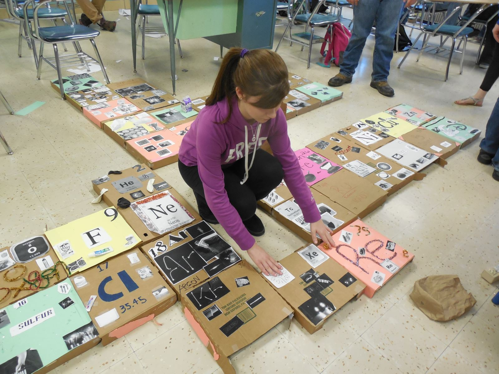 Cchs Students Build Periodic Table