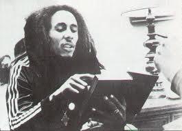 Bob Marley reading the Bible!
