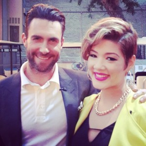 Tessanne with her coach Adam Levine