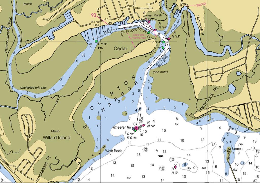 Clinton Harbor NOAA Nautical Chart