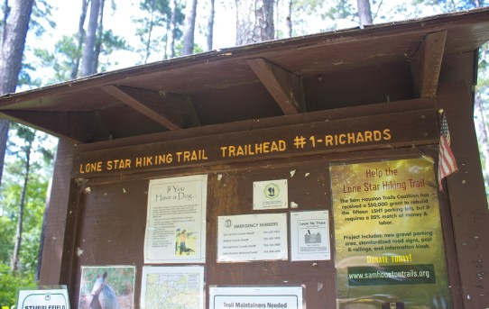 Lone Star Hiking Trail Trailhead 1 Sign