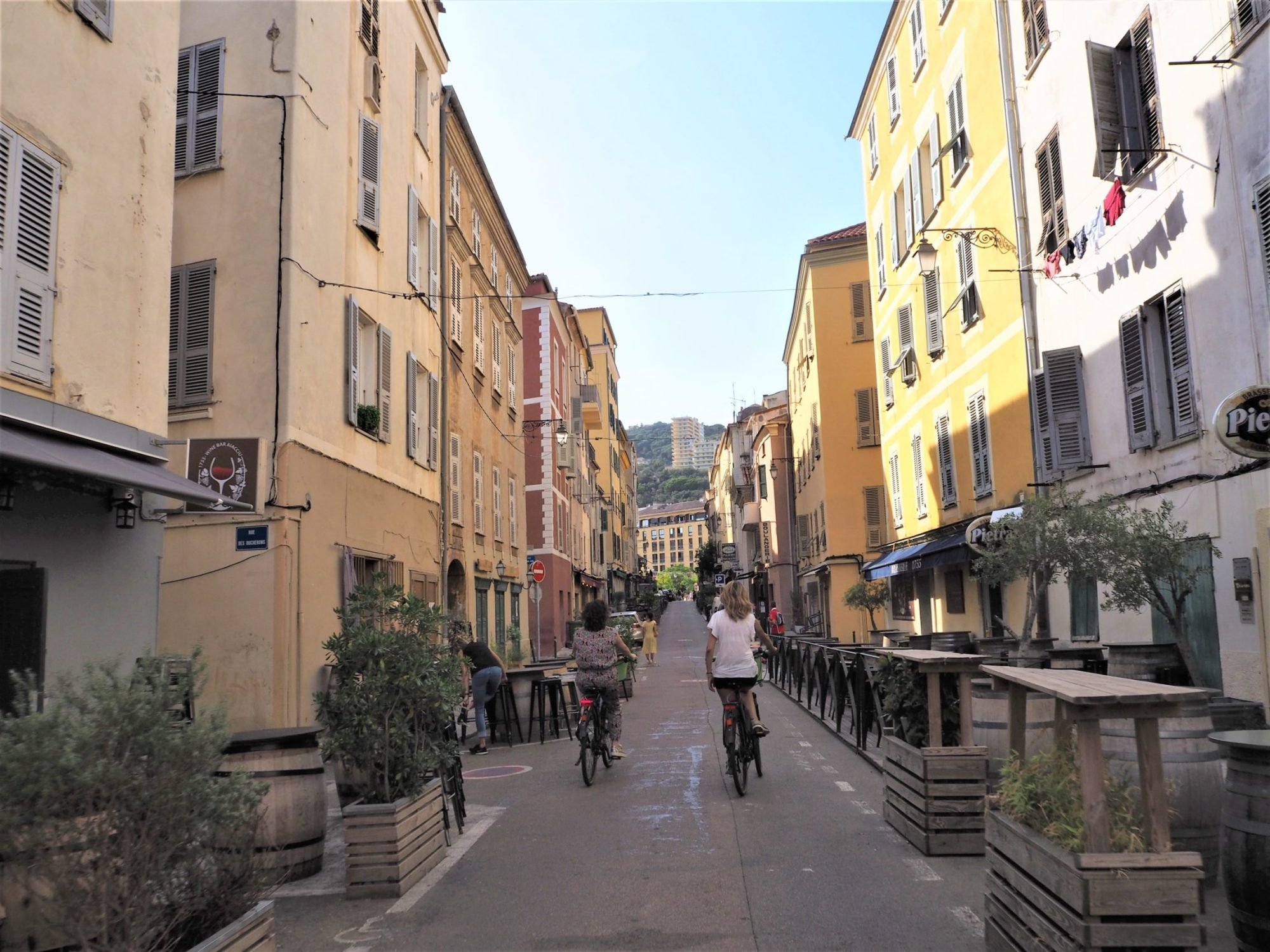 Corse Ajaccio AppeBike dans la rue du Roi de Rome