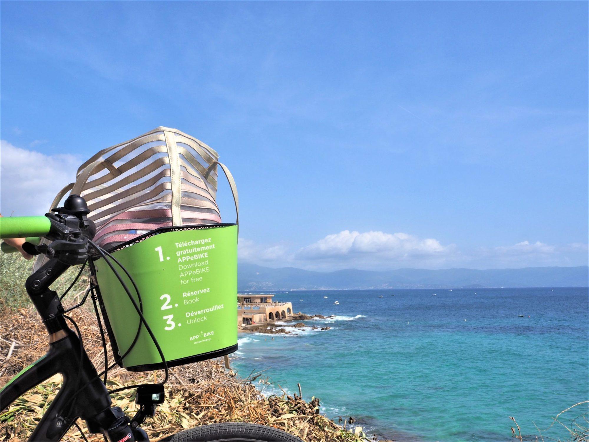 Vélo électrique AppeBike, Panier, Ajaccio Corse France