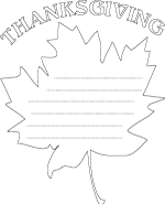 Outline Shape Coloring Pages with Lines for Writing