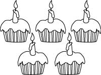 Birthday Coloring Pages, Printable Outline Designs