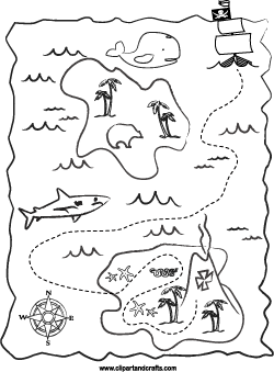 Printable Treasure Maps Coloring Coloring Pages