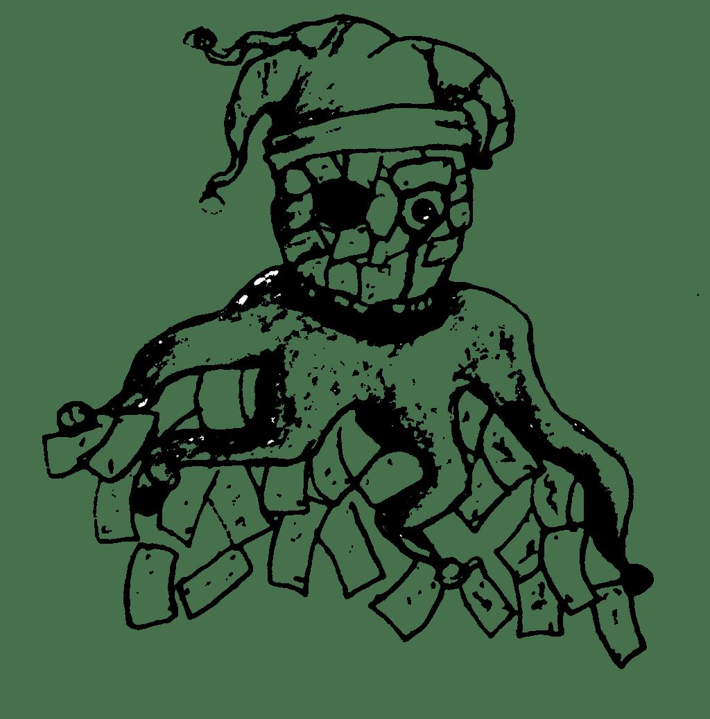 Joker Skull Outline