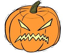 scary pumpkin - clipart