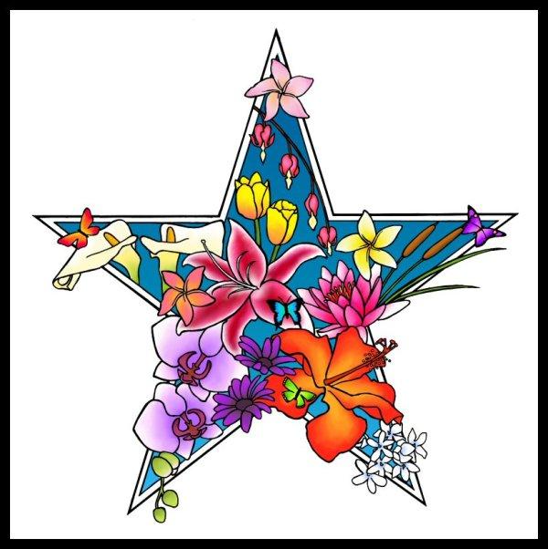 flower heart tattoo - clipart