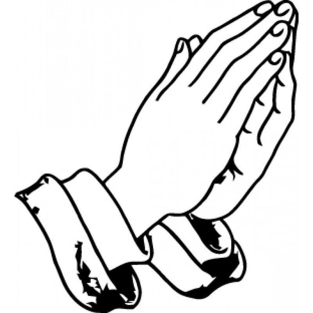 Praying Hands Coloring Sheet