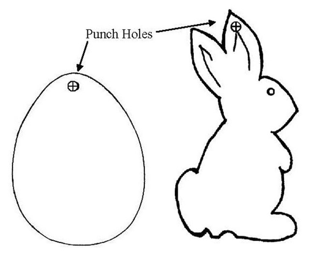 Easter Bunny Traceable Designs