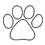 Clemson Tiger Paw Print Coloring Page Sketch Coloring Page