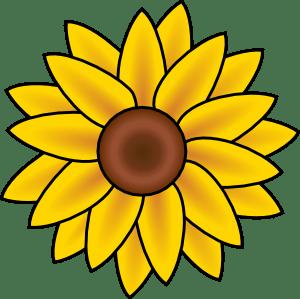 modern simple flower clipart