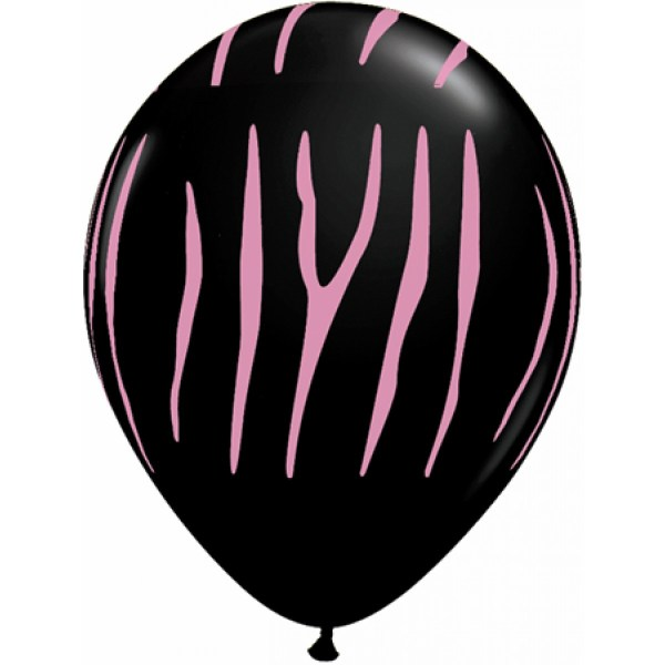 pink zebra print - clipart