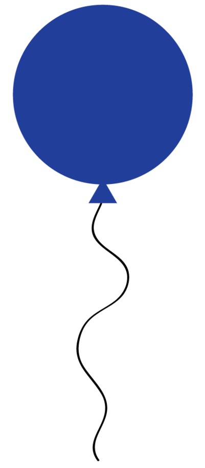 blue balloon clip art - clipart