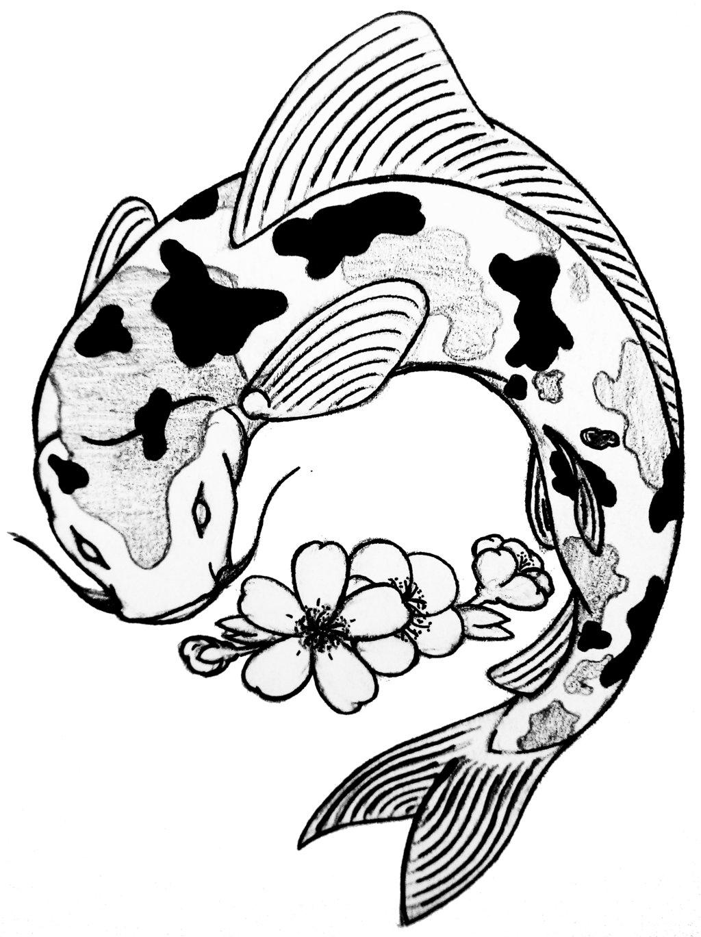 Fish Tribal Drawing