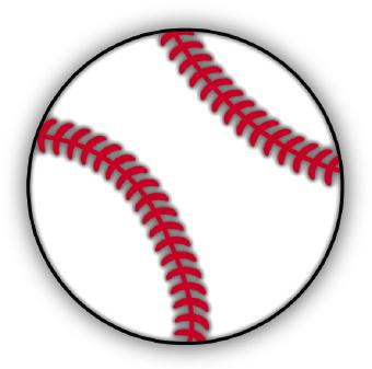 baseball ball cartoon - clipart
