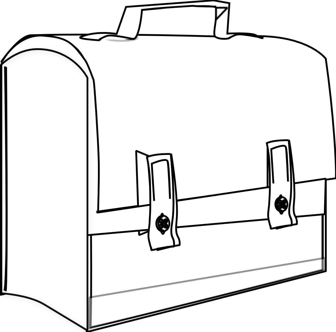 Suitcase Clipart Black And White