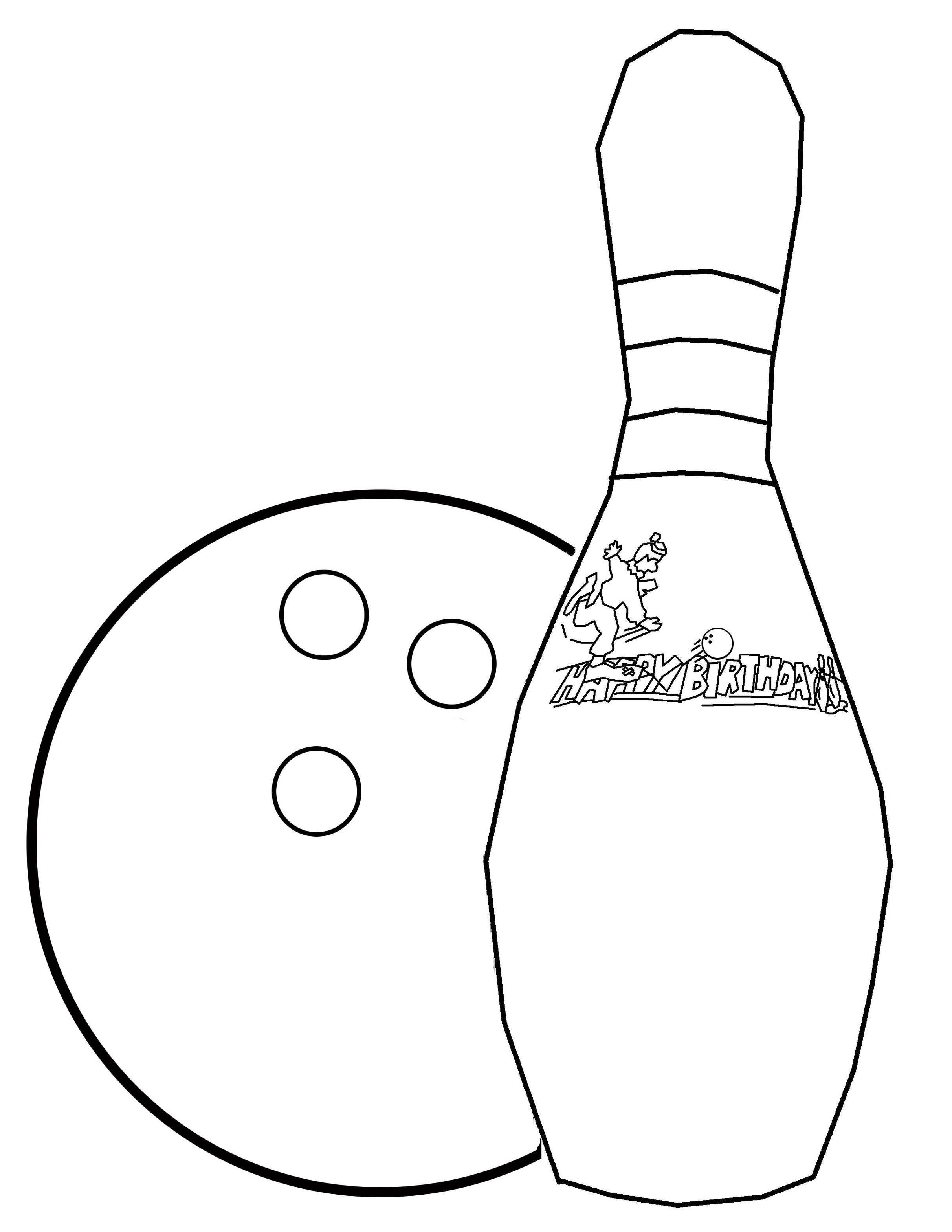 Bowling Pin Outline - ClipArt Best