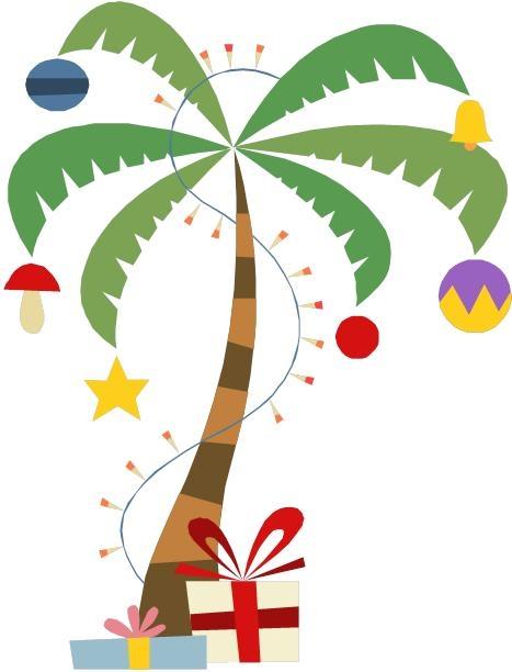 christmas palm tree - clipart