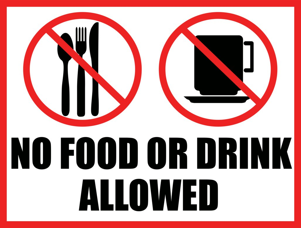 No Food Or Drink Sign Printable