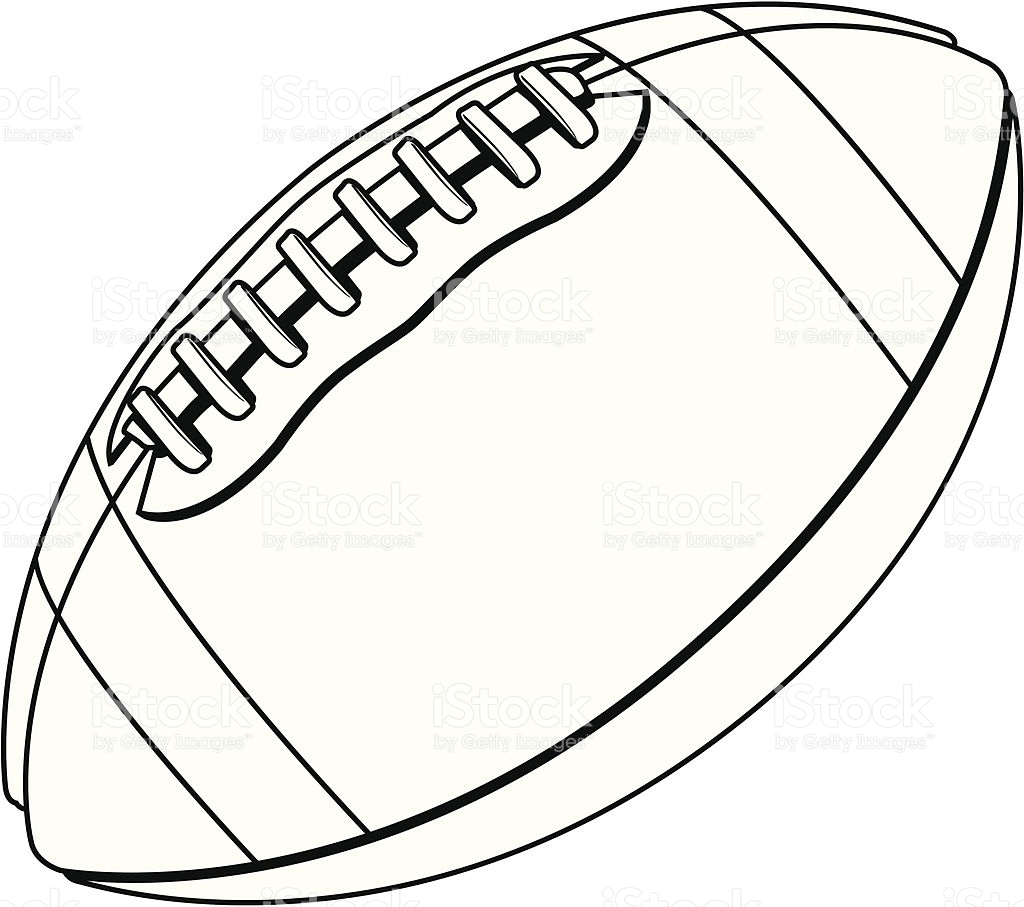 American Football Ball Black And White