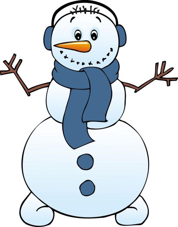 frosty snowman clipart