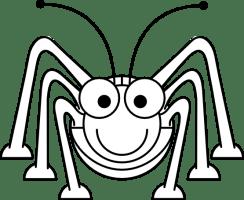 Cartoon Grasshopper Black White Line Studiofibonacci ...