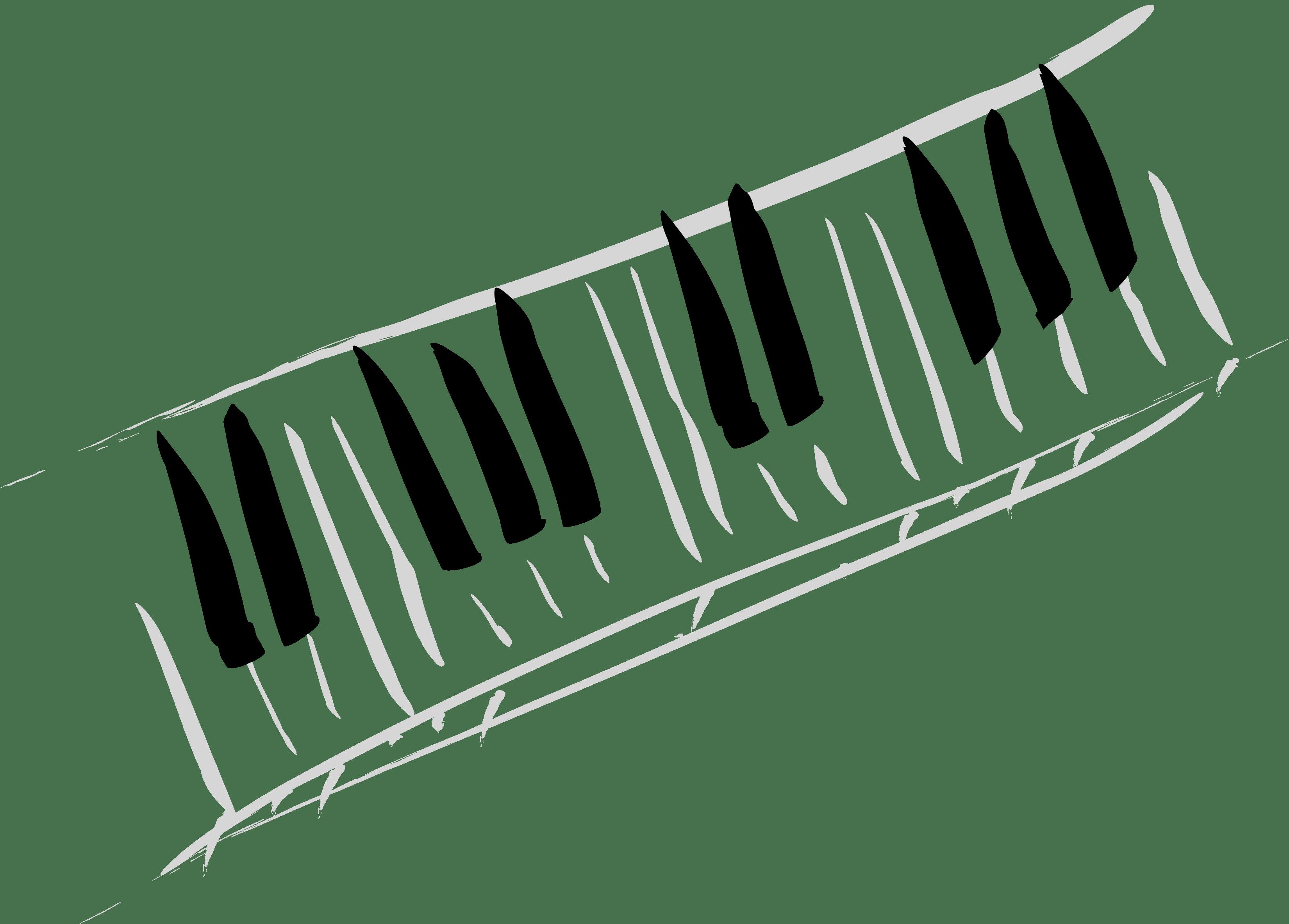 Wavy Piano Keys Clipart