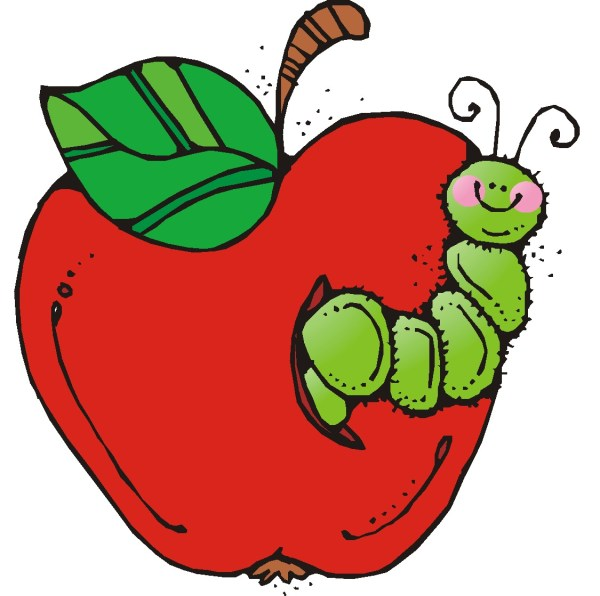 school apple clip art - clipart